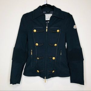 Moncler Military Style Winter Coat Gold Buttons XS